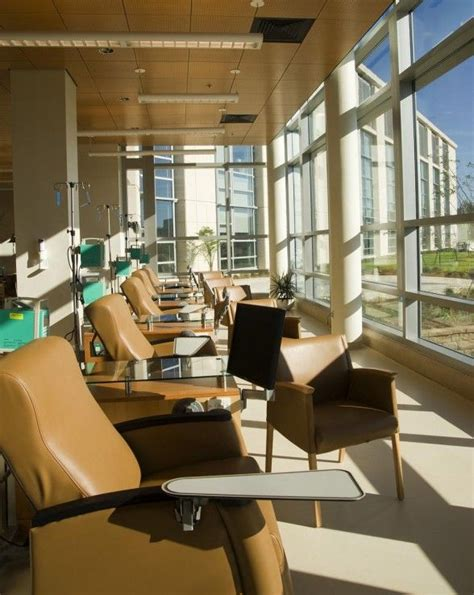 chemotherapy room layout outdoor facing chemo infusion stations infusion center