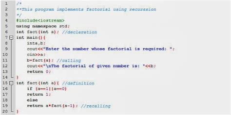 pattern programs in c using recursion recursive program for factorial in c todayhistoryit over
