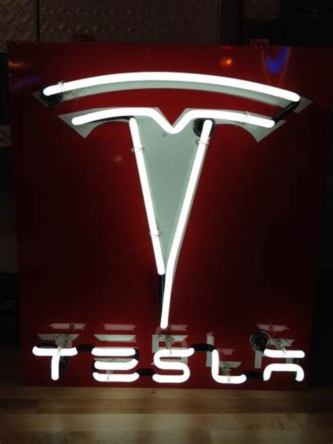Tesla Signs Neon Tesla Logo Sign