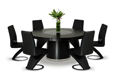 Black Contemporary Dining Table Black Contemporary Dining Table Brucall
