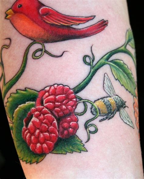 raspberry tattoo designs 22 best images on