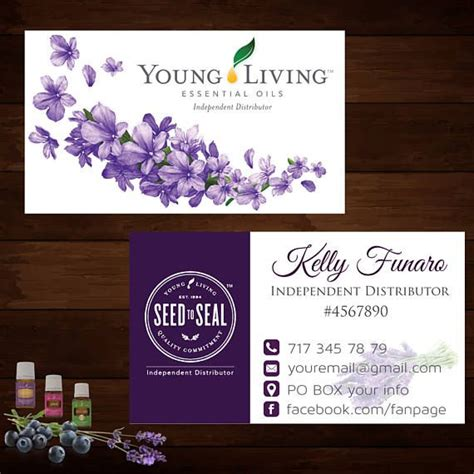 Living Essential Oils Business Cards