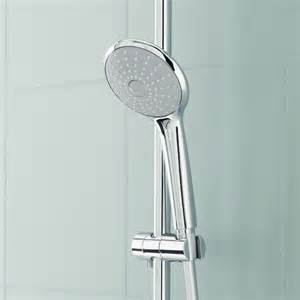 grohe euphoria wall mounted shower system with shower arm
