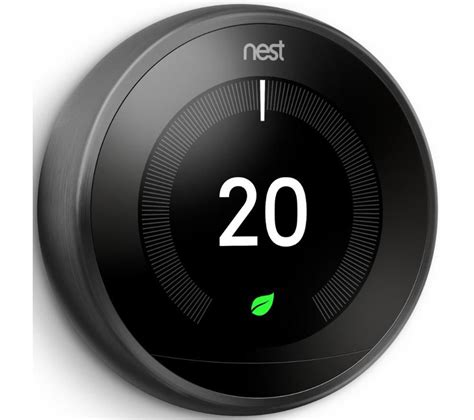 Buy NEST Learning Thermostat   3rd Generation, Black   Free Delivery   Currys