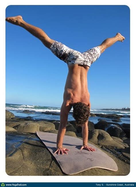 boat pose to handstand handstand yoga pose asana image by tonysutton