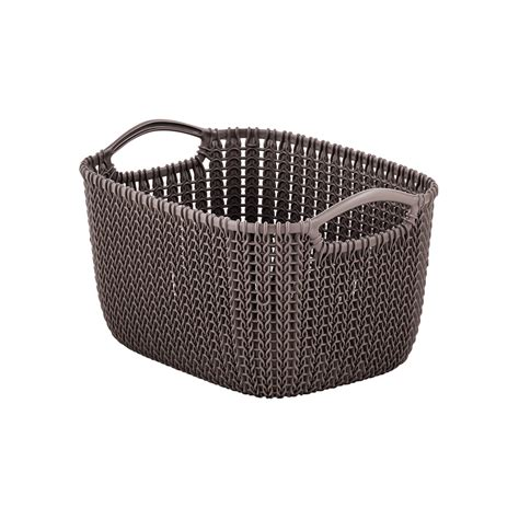 knit basket harvest brown knit baskets the container store
