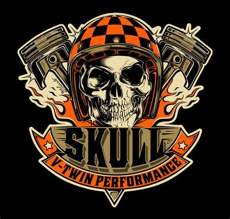 v twin tattoo designs logo design skull v performance brazil 2016