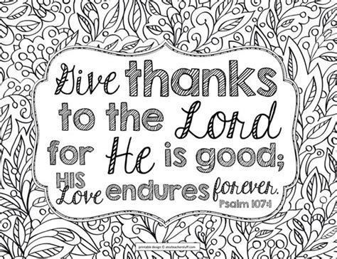 christian coloring pages about giving give thanks to the lord bible verse coloring page
