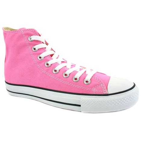 converse shoes converse all chuck hi pink unisex shoes ebay