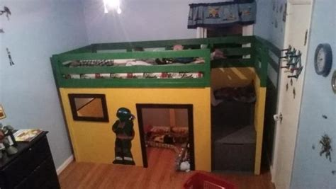 ninja turtle bunk bed ninja turtle loft bed do it yourself home projects from