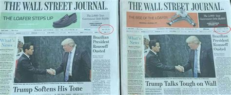Newspaper Vs Television Essay by Wall Journal Same Paper But Two Contradictory Headlines On Donald