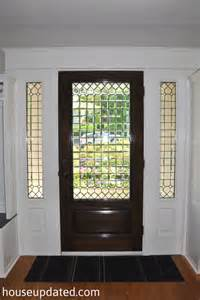 Stained Glass Front Doors Front Door Stained And Trimmed House Updated