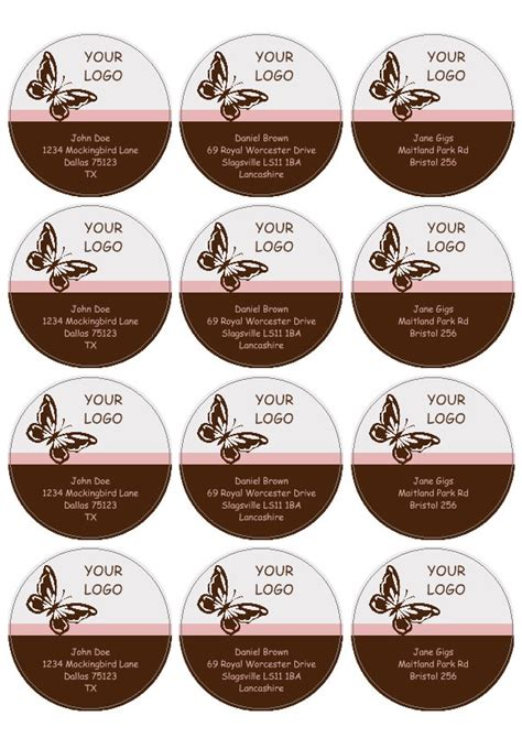sticker label template labels and circular labels template