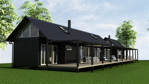 Eunoia Living Baches Architecturally Design Bach Options Barn House Designs Nz