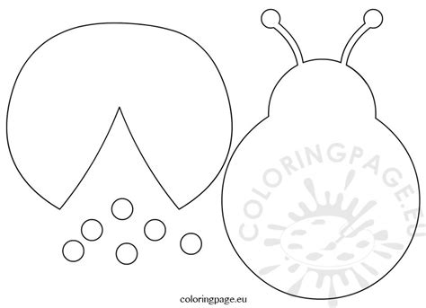 cut out template printable ladybug template pictures to pin on