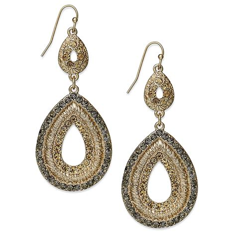 accent earrings inc international concepts 12k goldplated glass accent