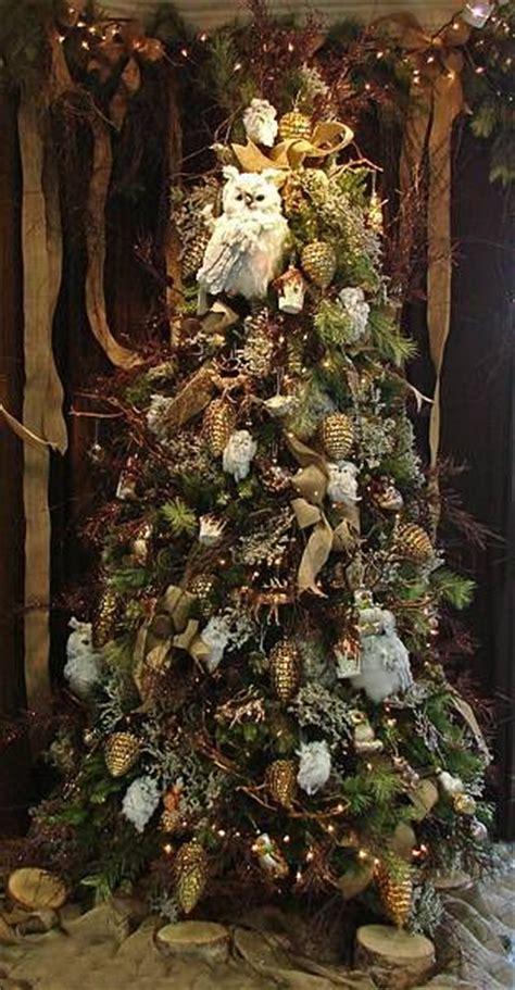 enchanted forest christmas tree owl christmas tree christmas tree themes christmas tree