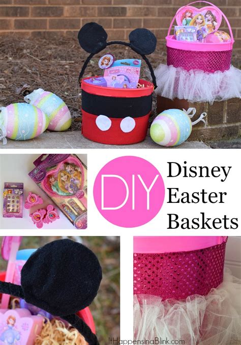 diy easter basket ideas diy disney easter baskets sponsored disneyeaster