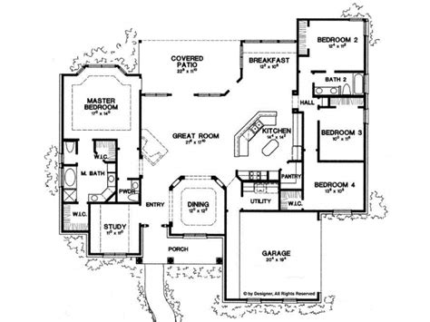 Single Story Open Concept Floor Plans by Eplans New American House Plan Four Bedroom New American