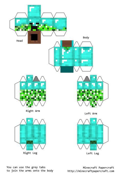 Papercraft Minecraft Armor - minecraft papercraft blue creeper www pixshark