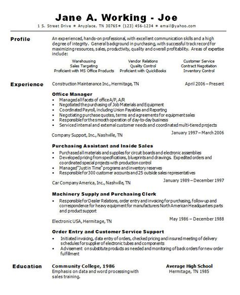office assistant resume template best photos of sle resume general office general