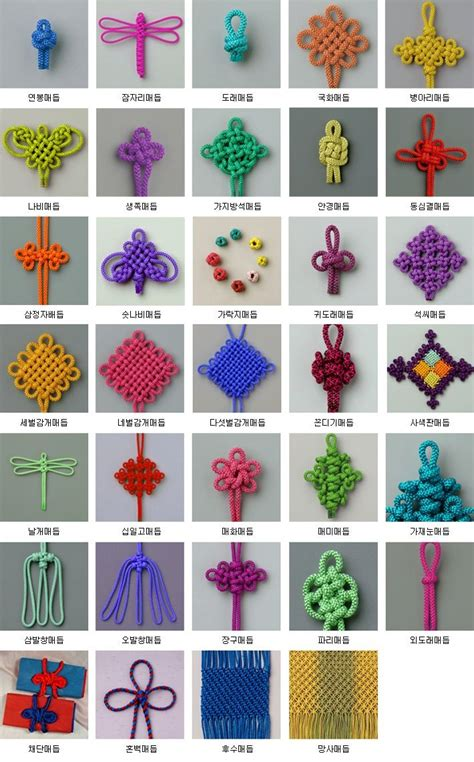 How To Make Cool Knots - best 25 knotting ideas on types of