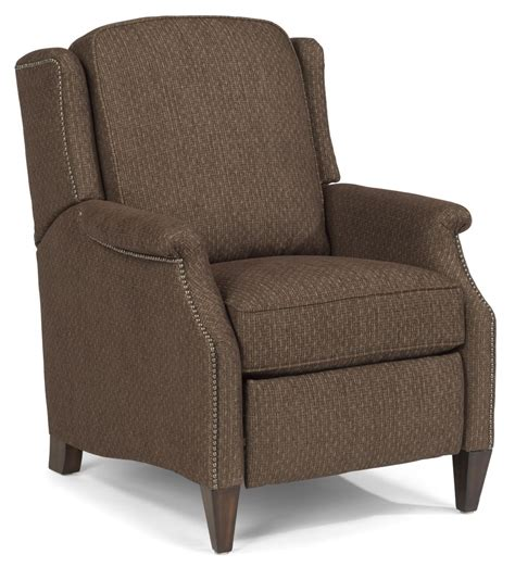 High Leg Recliner Flexsteel Zevon 5633 503 Transitional High Leg Recliner With Slender Arms And Nailhead