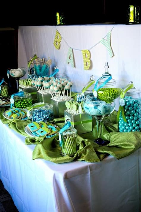 Turquoise And Green Baby Shower Lime Green And Turquoise Blue And Green Buffet
