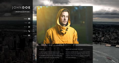 Example Of Profile In Resume by 7 Creative Online Cv Resume Template For Web Graphic
