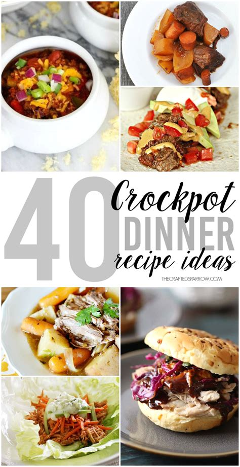 40 crockpot dinner ideas
