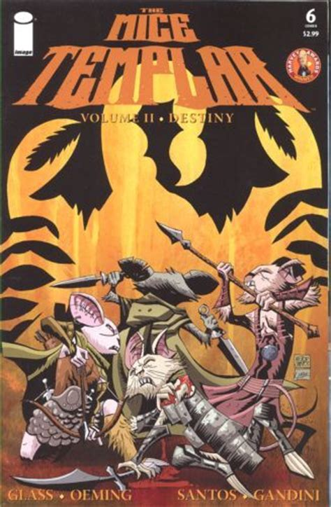the of destiny volume 2 books mice templar vol 2 destiny 6b on collectorz