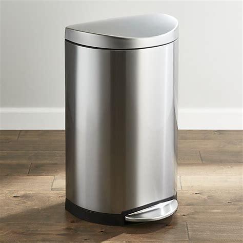 Semi Ceriier 40 Ltr simplehuman 174 40 liter 10 5 gallon deluxe semi trash can crate and barrel