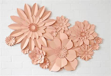 Flowers Handmade Paper - set of 13 handmade paper flowers by may contain glitter