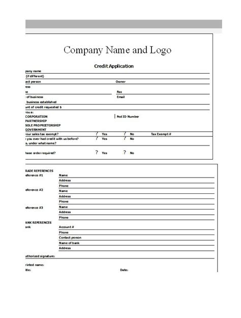 Credit Application Form Definition 40 free credit application form templates sles