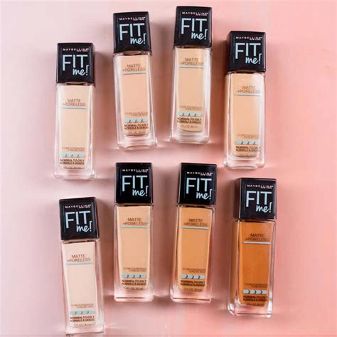 Harga Loreal Foundation Matte fit me matte poreless foundation makeup maybelline