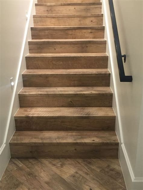 rough wood stairs basement redo   pallet stairs