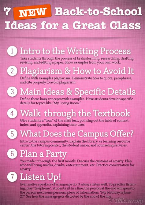 how to ideas 7 new back to school ideas for a great class poster