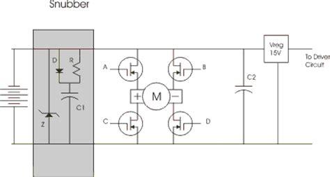 snubber diode bridge h bridge spiking chuck s robotics notebook