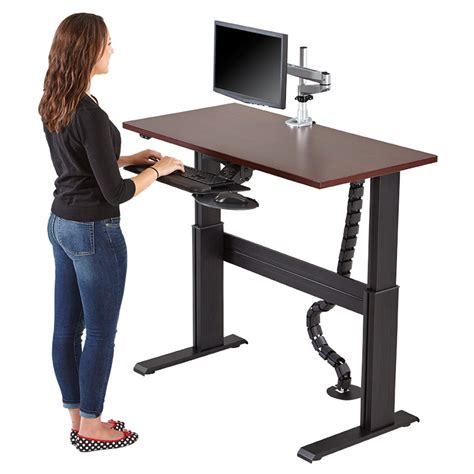 stand up or sit computer desk electric sit stand workstation sit to stand workstation