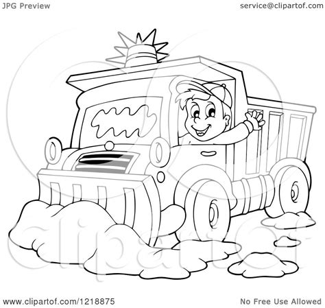 katy snow plow coloring page coloring pages