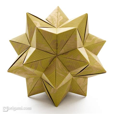 how to make 3d star and balls modular origami www imgkid the image kid has it