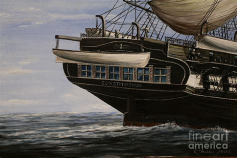 Designing A Cabin Uss Constitution 1865 Painting By Richard John Holden Ra