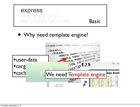 node template engine expressjs basic to advance power by node js