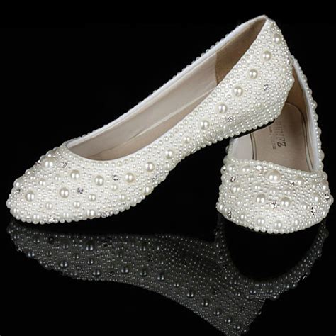 comfortable wedge bridal shoes ivory pearl diamonds 1 inches wedge heels party shoes