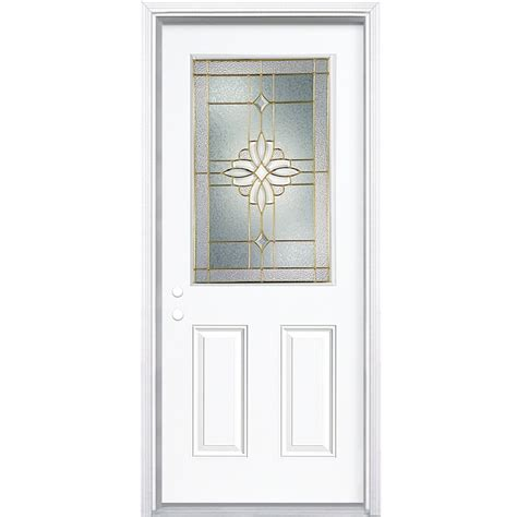 Shop Reliabilt Half Lite Prehung Inswing Steel Entry Door Lowes Prehung Exterior Doors