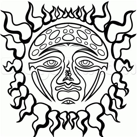 Sublime Sun Coloring Page | how to draw sublime sun logo sublime sun step by step