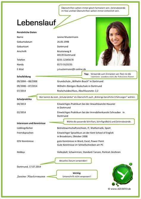 Lebenslauf Muster Für Ausbildungsplatz aktuelle bewerbung reimbursement format