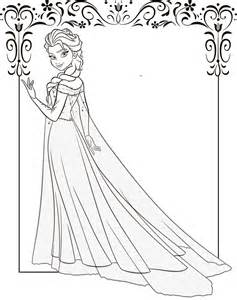 print elsa coloring download