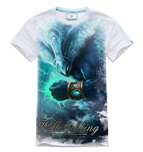 Tshirt Dota 2 Imbong 3d white dota 2 morphling t shirt mens 100 cotton tees wishining