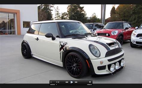 custom mini cooper 2006 mini cooper s custom jcw start up exhaust and in